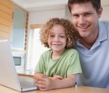 DAD CHILD COMPUTER