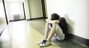 depressed teen.