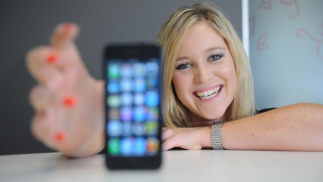 phone girl social media