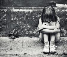Depressed-little-girl sad sucide