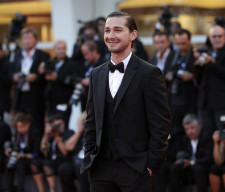 """Actor LaBeouf poses on the red carpet during a screening for the movie """"The Company You Keep"""" at the 69th Venice Film Festival"""