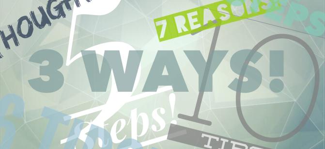 3 ways blog post