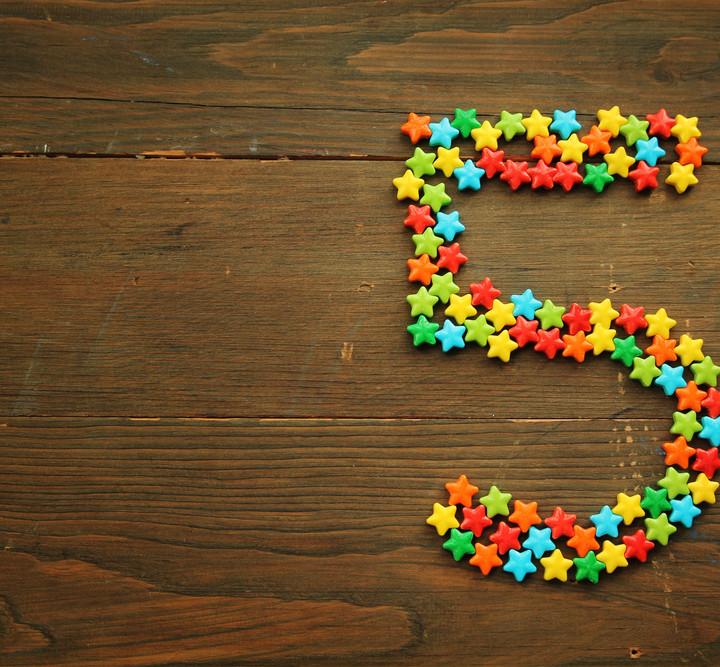 number- 5 five