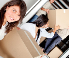 Girls moving house