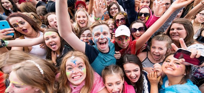 teens music fun smile