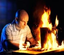 computer fire porn