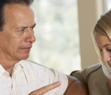 Man Having A Serious Talk With His Daughter