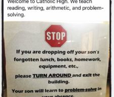 drop off parents