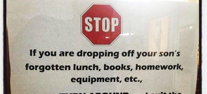 drop off parents