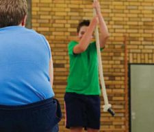 Obese FAT Kid SCHOOL GYM PE