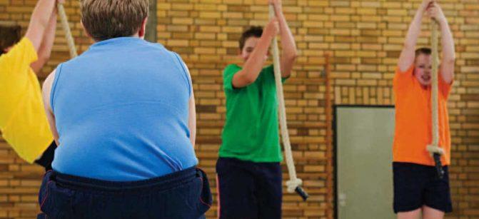 Obese FAT Kid SCHOOL GYM PE