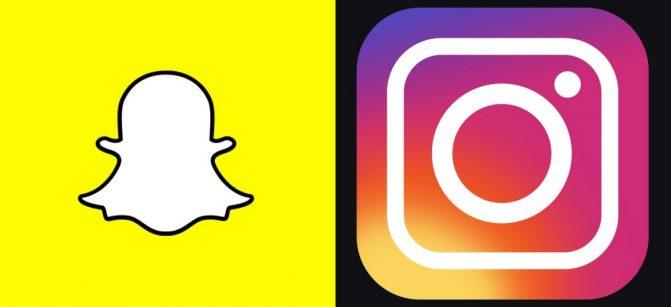 Snapchat instagram social media
