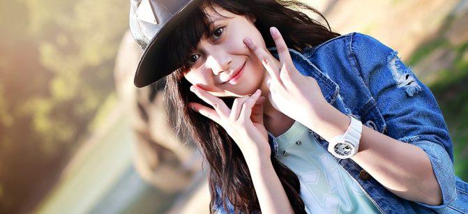 Gang girl smile