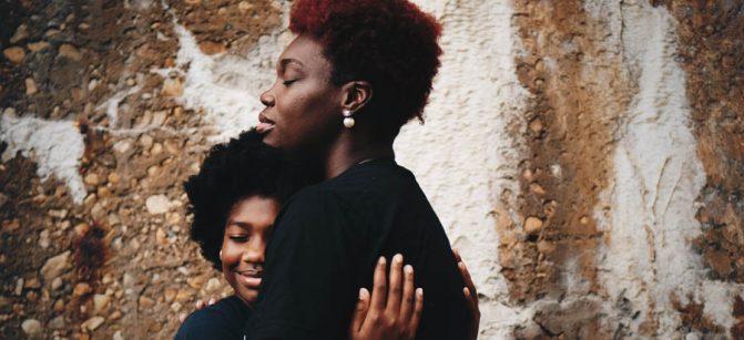 Mom black  daughter parent
