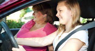 Teenage driving lesson