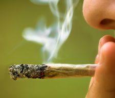 girl smoking marijuana close up