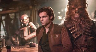 """Walt Disney Studios Motion Pictures Alden Ehrenreich as Han Solo, left, and Joonas Suotamo as Chewbacca in a scene from Ron Howard's """"Solo."""""""