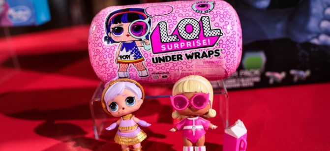 LONDON, ENGLAND - NOVEMBER 14: 'L.O.L Surprise! Under Wraps' dolls on display at a 'Dream Toys' event to unveil the top twelve toys this Christmas on November 14, 2018 in London, England. The Toy Retailers Association today announced that Hasbros Monopoly: Fortnite Edition is top of their 'DreamToys' list for Christmas 2018. (Photo by Jack Taylor/Getty Images)