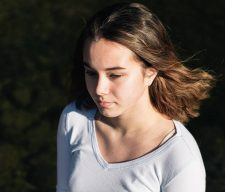 Sad girl middle
