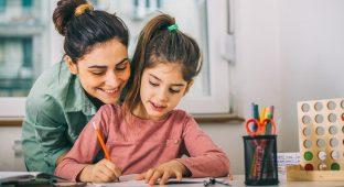 P  Parent study school kid