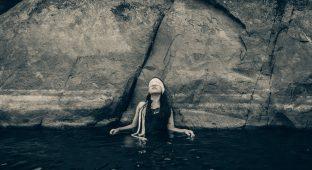 Swim sad nature leader