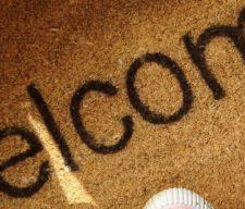 Greetings welcome doormat