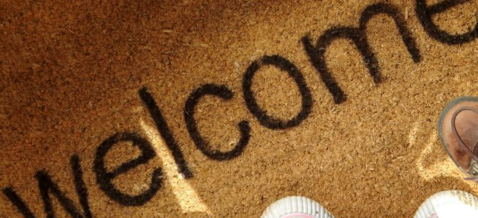 Greetings welcome doormat