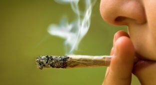 girl smoking marijuana pot