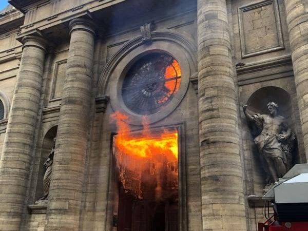 St sulp church fire