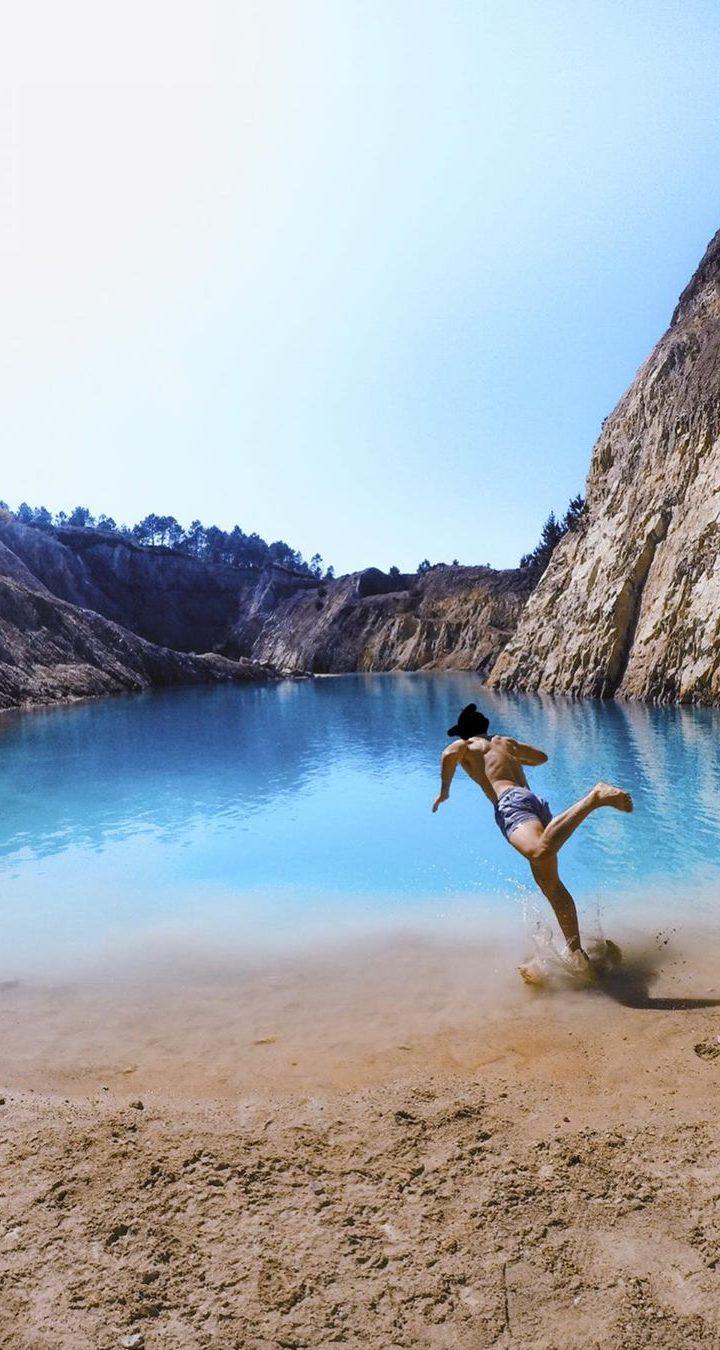 Toxic lake instagram swim