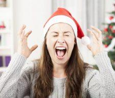 Christmas stress sad anger family