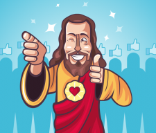 cool Jesus social med