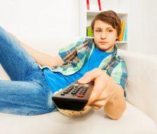 Tv boy sit lazy youth culture