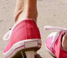 Gum stuck shoe