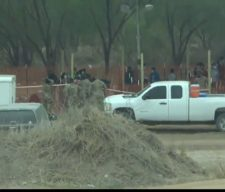 Border children sleeping on the dirt