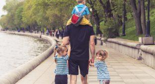 Dad parent kids nature